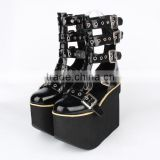 fashion Punk Boots/ lolita shoes with metal buckle