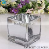 Popular Mirrored Square Glass Vase / different sizes for you choose/ can print your logo                                                                         Quality Choice