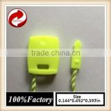 quality string seal tag, hang tag string, garment plastic seal tag/ Fluorescent green string seal neon string lights
