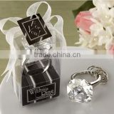 Simulated diamond Ring Key Chain for birthday gift