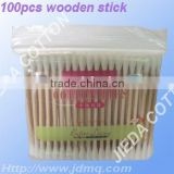 wooden stick cotton swabs in PE bag