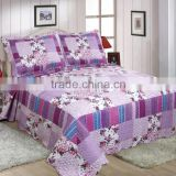 Xinjia Brand new style pretty flowers bedding set patchwork quilt