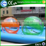 Factory price cheap water pool ball,inflatable water walking ball rental