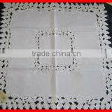 Antique Linen Arts & Crafts Embroidered Tablecloth/Bedspread
