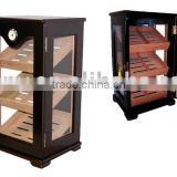 Wooden Humidor Cabinet with three glasses window for cigar display                                                                         Quality Choice
