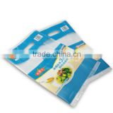 custom size disposable side gusset heat sealing flat bag with 2 side food grade printing