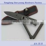 OEM outdoor stainless fixed blade mutlifunctional camping hunting survival pocket knife /tool