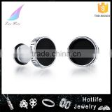 latest beauty men accessories fashionable jewelry black hip hop earring stud for male