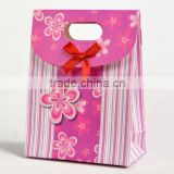 New Fashion middle shooping paper bag for beer paper bag for cookies paper bag for food with die cut handle