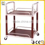 Pan distribution vehicle Luxury hotel wine liquor trolley service stainless steel liquor trolley for restaurant
