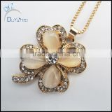 High quality flower charm pendant necklace
