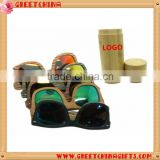2016 hot custom bamboo sunglasses with bamboo case and polaried lens                                                                         Quality Choice