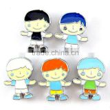 Wholesale DIY Enameled Colored Boys 8mm Slide Charms Cartoon Beads