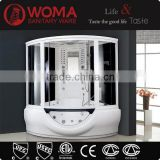 2016corner shower massage portable home sauna steam room with whirlpool tub