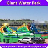 2016 giant 300+people inflatable water slide with pool, water park games                                                                         Quality Choice