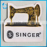 Die-cut fuse interlining with gum Irregular clothing label for sewing machine