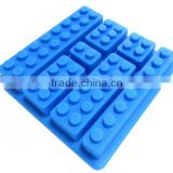 Silicone Buliding Block Candy Jello Ice Cube Tray Chocolates Silicone Baking Molds for Lego Lovers