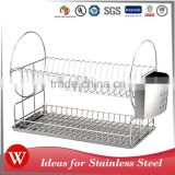 superior quality kitchen 0.3MM S.S.410 cutlery holder dish rack with drainer