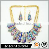 High quality fashion gold chain bulk jewelry statement mood druzy necklace set for party                                                                                                         Supplier's Choice