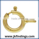 1/20 14K Gold Filled Jewelry Findings 5.5mm Spring Ring Light w/Closed Ring GP