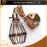 Wholesale American CE Vintage Iron Cage Edison bulb cage for stairs/balcony punk light china factory supplier