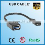 APBG Brand usb male to usb female cable type-c cable USB3.1 charging USB data cable awm 2725
