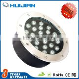 IP67 waterproof stainless steel cover Outdoor recessed floor 220Voltage LED Underground Lights 24W RGB