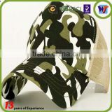 2016 New fashion camo trucker hat customize print military cap