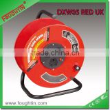 3 way UK socket metal reel extension socket outlet without cable and plug extension cord reel