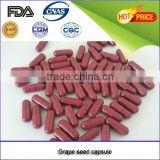 Healthcare Supplement GMP certificated grape seed capsules(red capsule shell)