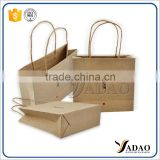 New recycle reusable custom Printed folding boutique gift packaging paper bag with China factory wholesale