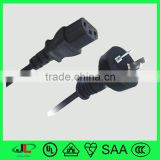 high quality Argentina 3 pin plug eletrical power cord 3 cores electrical wire cable with C13