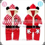 2015 Autumn/Winter new arrival Christmas New year polka dots baby rompers children boutique costume dress