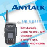 NEWEST 10W radio AT-650UV dual band walky talky walkie talkie with duplex repeater function