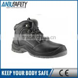 Steel toe men leather work boots for heavy work