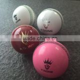 Leather and PVC cricket ball
