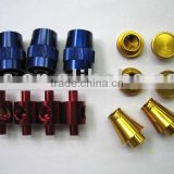 [Aluminum 6061/6062/6063/7075 T6] Color Anodized CNC Lathe Machining/Milling Parts [Joints with Threaded End &Though Hole]