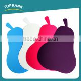 Toprank High Quality Pear Shaped Color Coded Chopping Board Flexible Plastic Cutting Mat Set Thin Vegetable Cutting Board