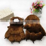 2015 New Design Imitation Fur Animal Paw Scarf Gloves