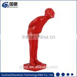 Custom Resin Red Man and Buddha Sculpture Statue