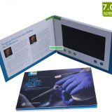 Hospitals Marketing A5 7 inch LCD Video Brochure /Video Greeting Card/Video Business Card with 256Mb memory