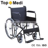 Rehabilitation Therapy Supplies TSW875 TOPMED cheap price STEEL WHEELCHAIR