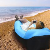 Outdoor Inflatable Air Sofa Sleeping Lazy Bag Camping Air Sofa Sleeping Beach Bed Banana Lounge Bag Air Bed Square sofa