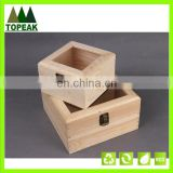 Various dimensions wooden box custom logo printing Packaging Box