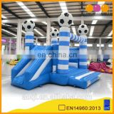 AOQI kids paradise football theme inflatable combo bouncer with slide for sale