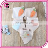 Cute unisex design baby bib wholesale price trendy cotton bandana bib for drooling