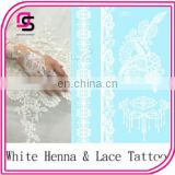 Newest Elegant White Henna Classy Lace tattoos