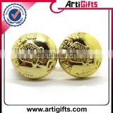 Gold plated cheap custom logo cufflinks