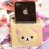 novelty promotion item custom cartoon design soft pvc/rubber desktop cellphone holder