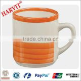 8oz colorful handpainting mug/ceramic cheap mug/handpainted mug/cheap mug price/stoneware handpainted mug